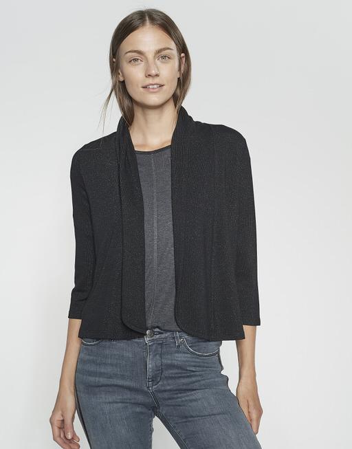 Shirtjacke Sandrine glitter black
