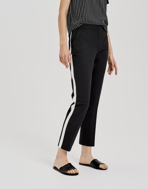 Zigarettenhose Edira solid stripe black