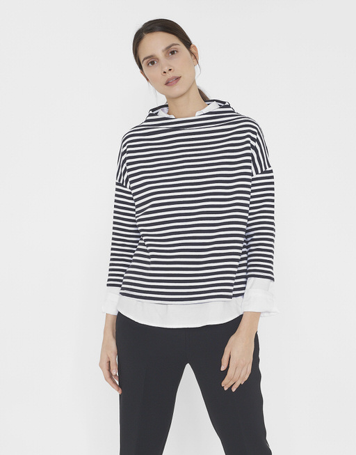 Sweatshirt Gesini stripe black