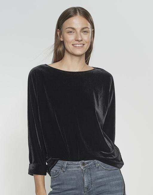 Sweater Ganya velvet black