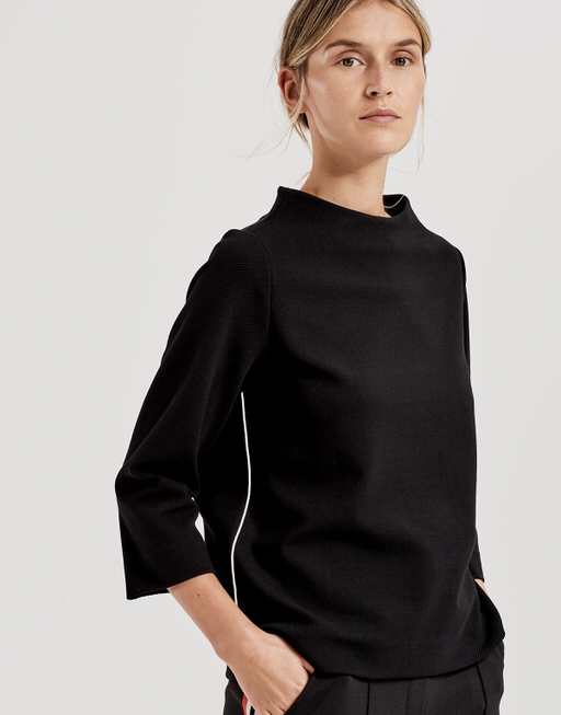 Sweatshirt Galvi diagonal black