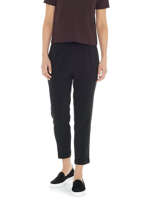 Business trousers Melosa turn up  black