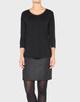 Longshirt Sabrina black