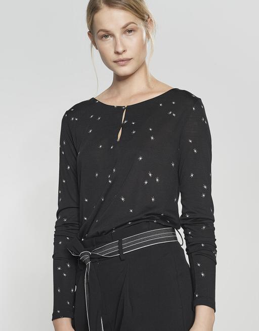 Druckshirt Saskia star black