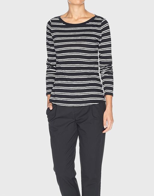Streifenshirt Susetta black