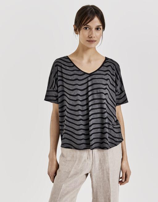Print-Shirt Santo zebra black