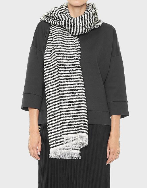 Streifenschal Asebra scarf black