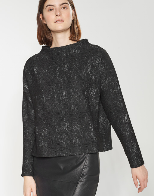 Boxy-Shirt Galant Rock black
