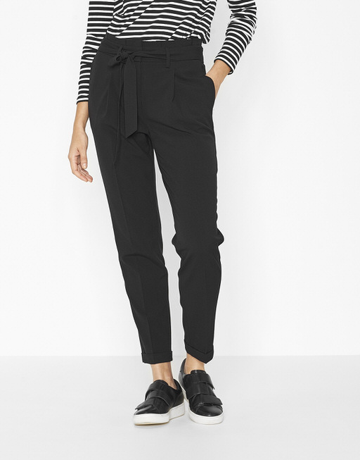 Pleated trousers Enchi black
