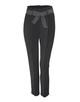 Bundfaltenhose Enchi stripe belt black