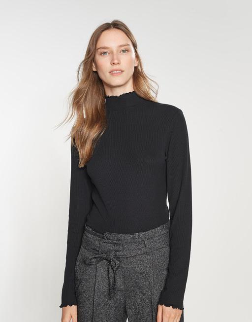 Turtleneck shirt Soske black