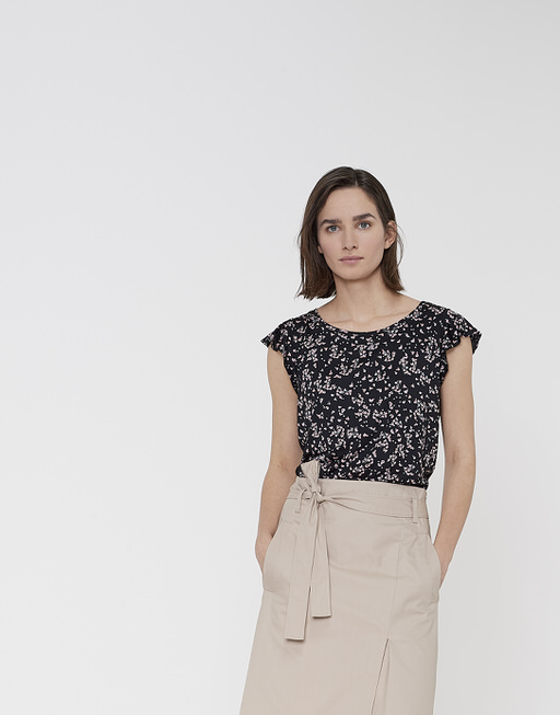 Print-Shirt Solliana little flower HS black