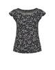 Print-Shirt Solliana little flower HS black