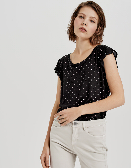 Rundhals Shirt Solliana threedots black