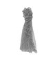 Streifenschal Aflapa scarf black