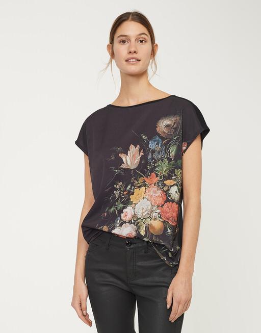 Shirt with print Semana print black