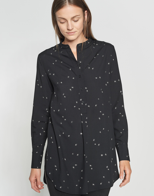 Lange blouse Fubin star black