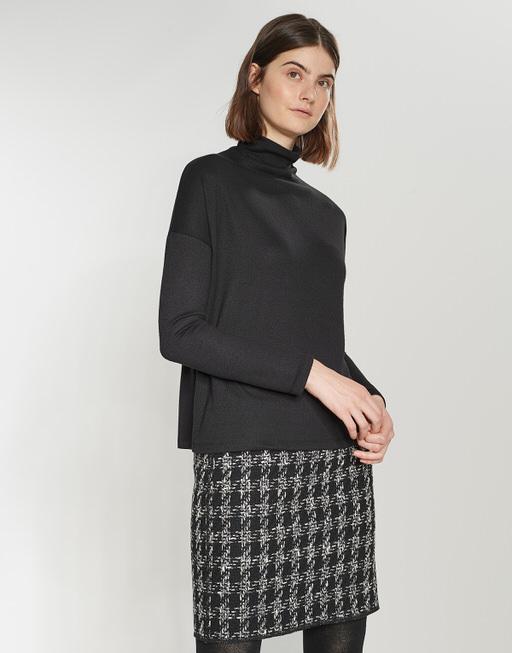 Turtleneck shirt Sola black