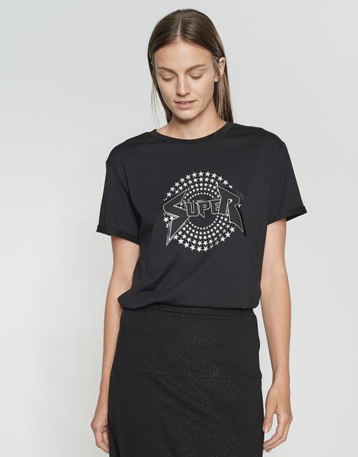 Motiv Shirt Stari print black