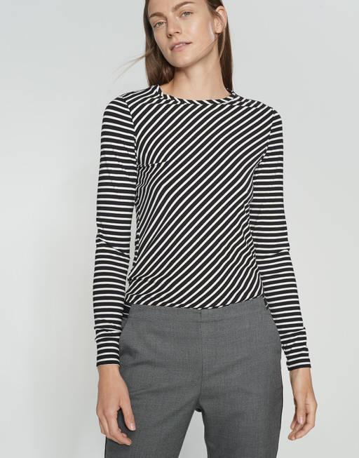 Stripe shirt Secilia black