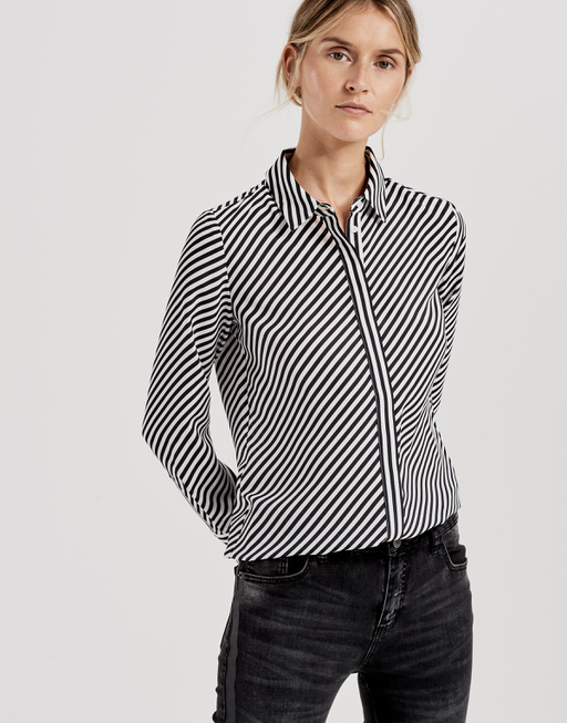 Gestreepte blouse Fastine black