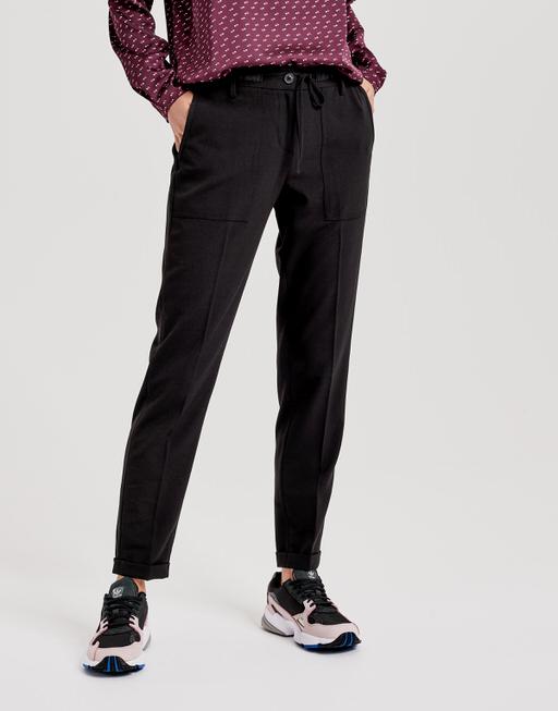 Stoffen broek Midoni black