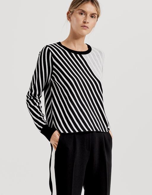 Baumwoll Pullover Piagonal black