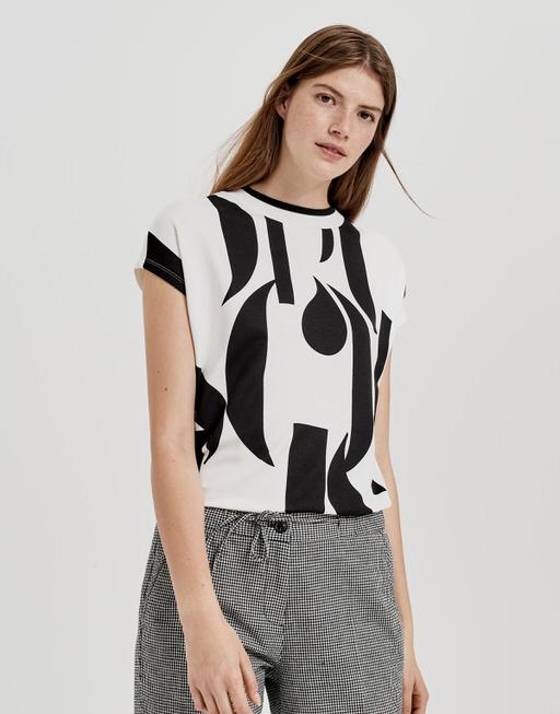 Print-Shirt Sissi print  black