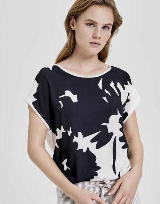 Print-Shirt Saflori print black