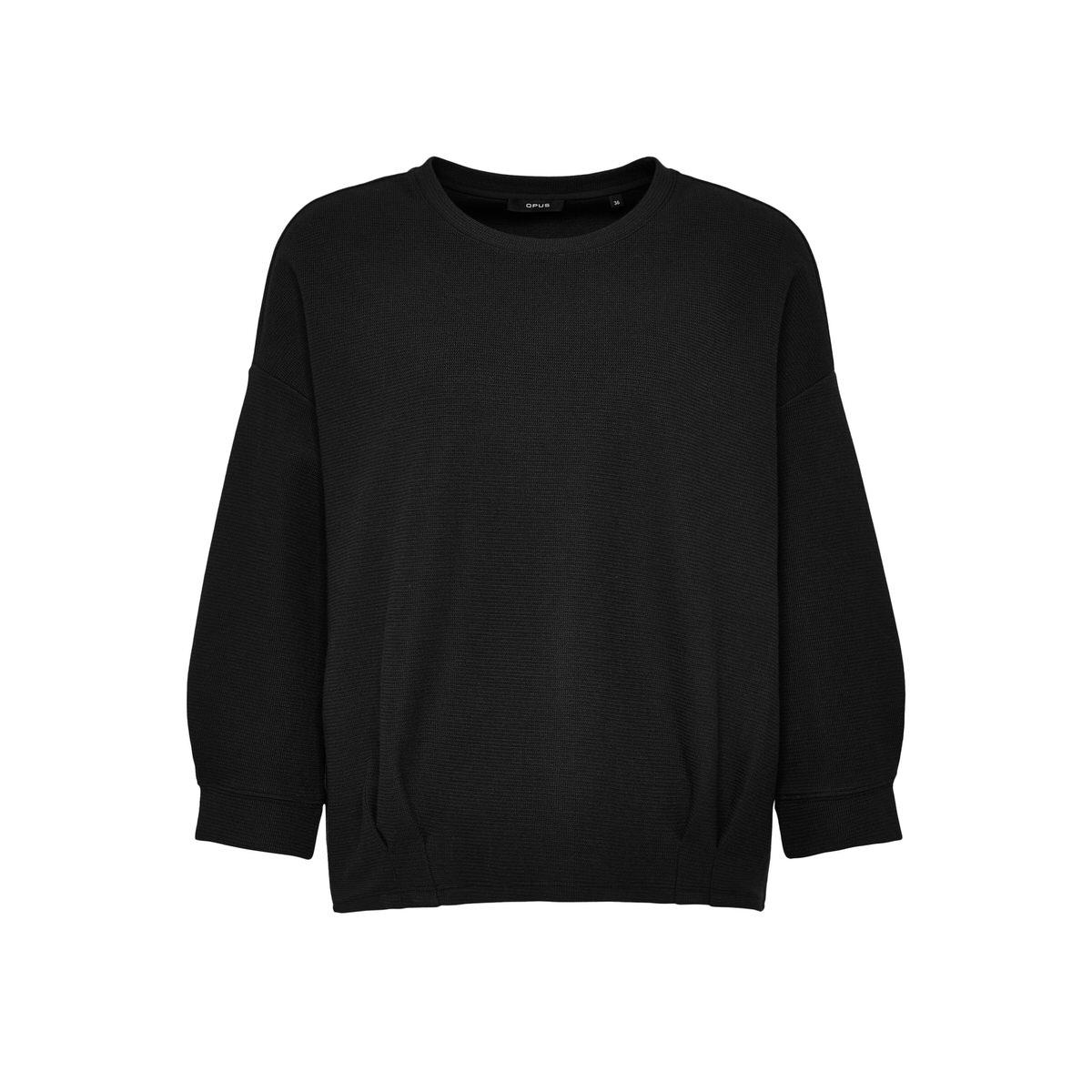 Artikel klicken und genauer betrachten! - Das Sweatshirt kommt in einem hochwertigen Baumwoll-Mix daher. Der lockere Schnitt wird durch die femininen Raffungen am Saum gebrochen. Bequem und lässig starten wir mit hochwertigen Qualitäten in den Herbst. Baumwoll-Mix, Oversized-Shape, überschnittene Schultern, Detail mit Raffung, das Model ist 177 cm groß und trägt Größe 36. | im Online Shop kaufen